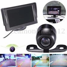 4.3'' TFT Impermeable Coche LCD Monitor Marcha Atrás Cámara DVD VCR Aparcamiento