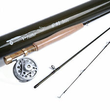 6' 1WT 3Sec Fishing Fly Rod Fly Fishing Rod Reel Combo & 1/2WT Fly Reel Kit