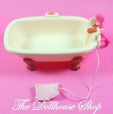 Fisher Price Loving Family Dollhouse Pink White Claw Foot Bath Tub Bathroom