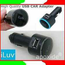 iLUV® iAD529★CARICABATTERIA USB per AUTO 12V/5V★USB CAR ADAPTER★iPhone iPad iPod