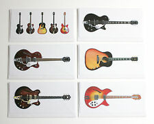 George Harrison's Guitars, Pack of 6 Greeting Cards, DL size