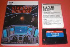 "MSX Starship Simulator [PAL Complet] ""Big Box"" Rare Jeu NO Super Nintendo  *JRF*"