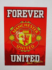 MANCHESTER UNITED UNSIGNED LOGO POSTER UNFRAMED - BRAND NEW