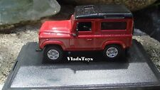Oxford 1/76 Land Rover Defender 90 Station Wagon Red/Black 76LRDF004