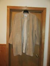Old Navy Beige Lined Coat Jacket 2XL 66% polyester 34% acrylic Full Zip NWT