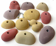12 BIG synrock bolt-on Climbing Holds COBBLES + Free Bolts