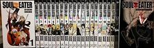 Soul Eater (Vol. 1 - 25) English Manga Graphic Novels Set  NEW Shonen Complete