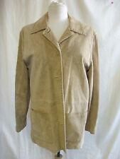 Ladies Jacket - Live a Little, size 1X, tan 100% suede, cowboy, button up - 0903