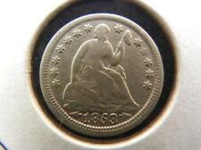 1853 Arrows Seated Liberty Half Dime. Very Fine detail. Lot 14
