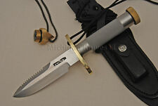 "Randall Made Knife - 18-5.5"" Fighter w/ Brass Skull Crusher & Compas"