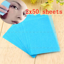 100 Sheets  Make Up Oil Tissue Absorbing Blotting Facial Face Clean Paper