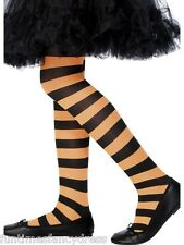 Girl's Halloween Striped Witch Tights Stripe Black & Orange 6~12 Years