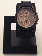 FOSSIL WOMEN'S MODERN PURSUIT BLACK CHRONOGRAPH WATCH WITH SILICON BAND ES3984