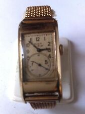 RARE Vintage 1948 Elgin Double Dial UNIQUE CURVED CASE Doctor's Watch- Mesh Band