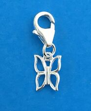 925 Sterling Silver Butterfly Clip on Charm