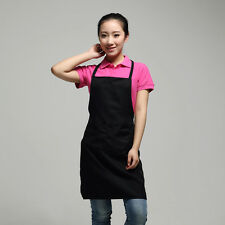 Useful Plain Apron with Front Pocket Chefs Butchers Kitchen Cooking Craft Baking