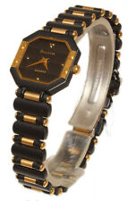 BULOVA  OROLOGIO DONNA PVD NERO E PLACCATO ORO WATCH WOMAN GOLD PLATED
