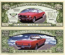 1965 Mustang - Classic Car Series Million Dollar Novelty Money