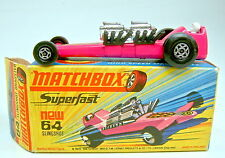 Matchbox Superfast Nr. 64B Slingshot Dragster hot pink top in Box