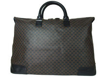 Authentic CELINE MACADAM PVC Canvas, Leather Browns Boston Bag / Large Size