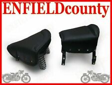 SADDLE SEATS BLACK SPRUNG TRIUMPH ROYAL ENFIELD  @CAD