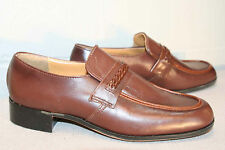 MENS 8.5 D NOS BROWN LEATHER Vtg MADE IN USA NEW NOBIL'S SLIP ON LOAFERS SHOE