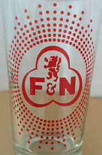 VINTAGE F&N RED LION Red Dots Surrounding Logo Glass