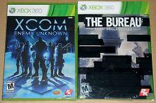 XBox 360 Game Lot - XCOM Enemy Unknown (new) The Bureau XCOM Declassified (New)