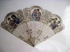 Vintage 1904 Calendar Fan w/ Gorgeous Pictures of Victorian Boys & Girls *