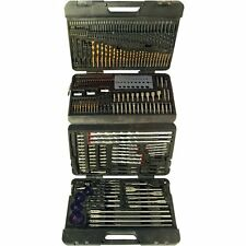 204pc Assorted Drill Bit Twist Set Kit Metric Heavy Duty Tools with Warranty New
