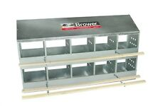 Brower 10 Hole Galvanized Hen  Chicken Nesting Laying Box.   Made in Iowa USA!