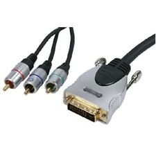 1.5m DVI-I Male Plug to 3x RCA Phono Male Gold Plated & Double Shielded Lead