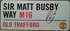 ROBIN VAN PERSIE Signed Replica Road Sign MANCHESTER UNITED & NETHERLANDS COA