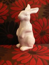 White Bunny Rabbit Figurine Ceramic Country Home Decor Easter Spring