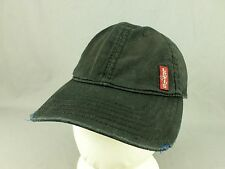 Levis Red Tab Hat Cap Levi Strauss Jeans Distressed Adjustable Black