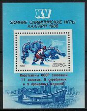 RUSSIA,USSR:1988 SC#5665(S/S) MHN 1988 Winter Olympics, Calgary with overprinted