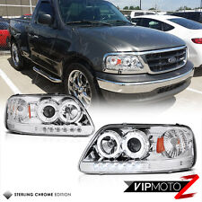 1997-2003 Ford F150 Chrome Angel Eye Projector LED Headlight Headlamp Expedition