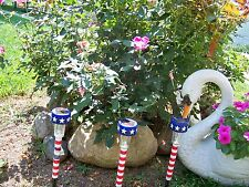 Patriotic Solar Light Stakes Yard Garden Driveway Patio Landscape -8 Lights.
