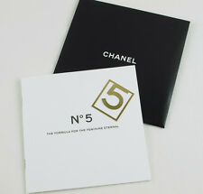 Rare CHANEL Paris Iconic N° 5 Perfume Bookmark gift booklet Limited Edition