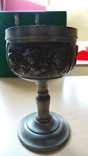 Zinnpokal, Zinnkrug, Birkneipe Motiv gepunzt , Bleifrei Zinn  95% , 15 cm  665 g