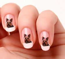 20 Nail Art Stickers Transfers Decals #593 - yorkshire Terrier Just peel & stick