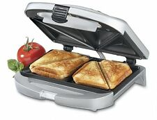 Electric Sandwich Grill Deep Non Stick Surface Dual Toast Maker French Toaster