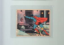 1940 SUPERMAN TRADING CARD # 15  Gum Inc Panic In The Subway