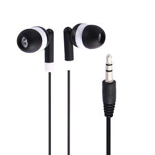 3.5mm In Ear Headphone Earbud Earphone for MP3 MP4 PDA PSP Players Laptops Black