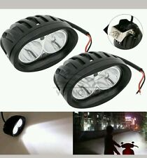 2PCS White 20W 3200Lm Cree Led Smd Projector Auxiliary Fog Lamp Royal Enfield