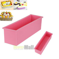 L Rectangle Brick Soap Pastry Toast Bread Loaf Cake Silicone Mold Bakeware 1.2L
