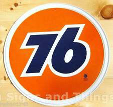 Union 76 ROUND TIN SIGN vintage motor oil gasoline garage metal wall decor 793