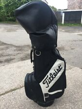 TITLEIST LEATHER TOUR BAG RETRO -RAIN HOOD -SHOULDER STRAP
