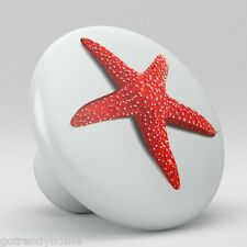 STARFISH Beach Ceramic Knobs Pulls Kitchen Drawer Cabinet closet Vanity 1803