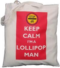 Keep Calm sono un uomo Lollipop-Cotone Naturale Borsa a tracolla-Tote-SCUOLA